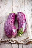 Two fresh eggplants Stock Photo