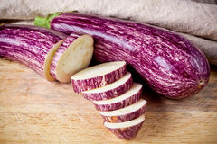 Two fresh eggplants Royalty Free Stock Photography