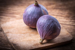 Two fresh figs. Stock Images
