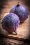 Two fresh figs. Royalty Free Stock Images
