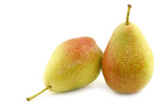 Two fresh `Forelle` pears Stock Photo