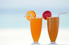 Two fresh fruit juices Stock Photo
