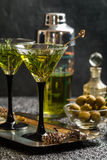 Two fresh green cocktails Royalty Free Stock Photos