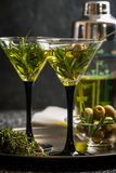 Two fresh green cocktails Royalty Free Stock Images
