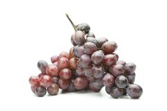 Two fresh harvested grapes isolated on pure white Stock Image