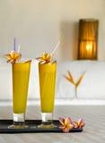 Two fresh juice Stock Image