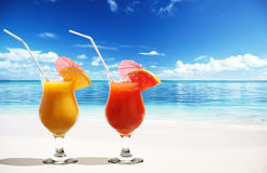 Two fresh juices Royalty Free Stock Photos