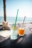 Two fresh juices Royalty Free Stock Images