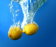 Two fresh lemon Royalty Free Stock Photography