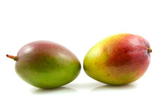 Two fresh mango fruit Royalty Free Stock Photos
