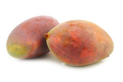 Two fresh mango fruits Stock Photo