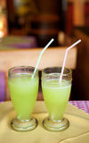 Two fresh melon juices Stock Photography