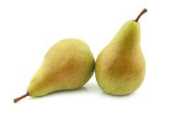 Two fresh migo pears Royalty Free Stock Photo