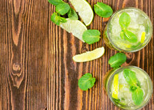 Two fresh mojitos cocktail Royalty Free Stock Photography