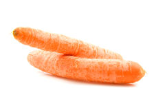 Two fresh orange carrot Royalty Free Stock Photos