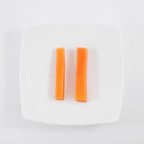 The two fresh orange carrot sticks Royalty Free Stock Photo