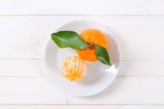 Two fresh oranges Royalty Free Stock Photos