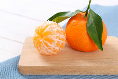 Two fresh oranges Stock Images