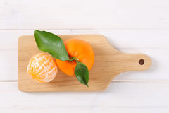Two fresh oranges Royalty Free Stock Images