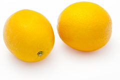 Two Fresh Oranges, Isolated Royalty Free Stock Photo
