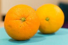 Two fresh oranges Stock Image