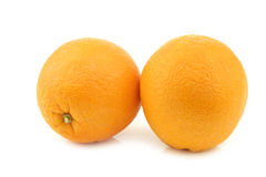 Two fresh oranges Royalty Free Stock Photography