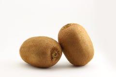 Two fresh organic New Zealand kiwifruit Royalty Free Stock Photo