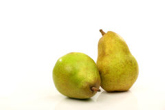 Two fresh pears Stock Photos