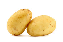 Two fresh potatoes Stock Photography