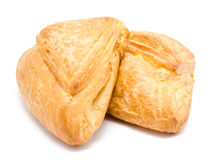 Two fresh puff pastry isolated on a white Royalty Free Stock Photo
