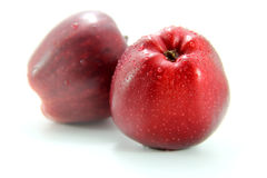 Two Fresh red apple Stock Photo