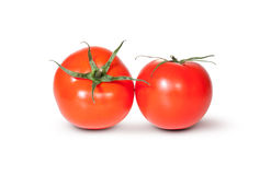 Two Fresh Red Juicy Tomato Royalty Free Stock Photography