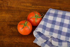 Two Fresh Red Tomatoes Royalty Free Stock Photos