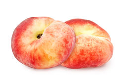 Two fresh ripe peach. Royalty Free Stock Images