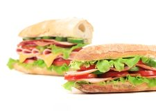 Two fresh sandwiches Stock Image