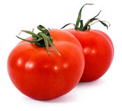 Two fresh tomatoes Royalty Free Stock Photography