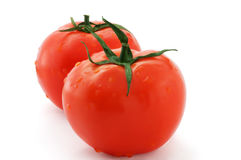 Two fresh tomatoes Royalty Free Stock Images