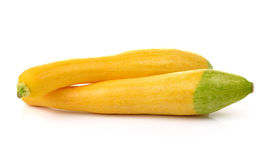 Two Fresh Vegetable yellow Zucchini on white background Royalty Free Stock Image