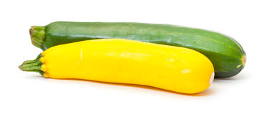 Two Fresh Vegetable Zucchini Royalty Free Stock Photos