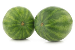 Two fresh whole watermelons Royalty Free Stock Photos