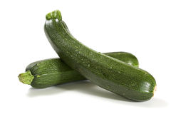 Two fresh zucchini isolated Royalty Free Stock Photos