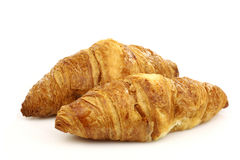 Two freshly baked croissants Stock Photo