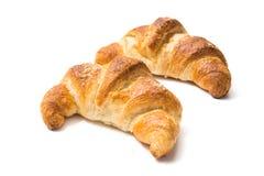 Croissants isolated on white background Stock Photo