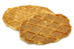 Two freshly baked Dutch waffles Royalty Free Stock Photos