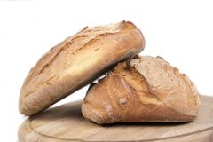 Two loaves of freshly baked bread Stock Image