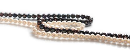 Two Freshwater Pearl Necklaces Royalty Free Stock Photography