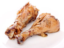 Two Fried Chicken Legs Stock Photo