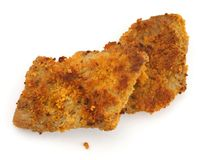 Two fried cutlets Stock Photo