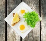 Two fried eggs Royalty Free Stock Image
