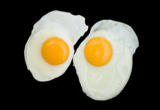 Two Fried Eggs Royalty Free Stock Images